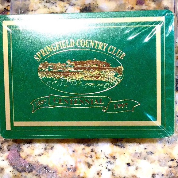 Springfield Country Club playing bards, sealed